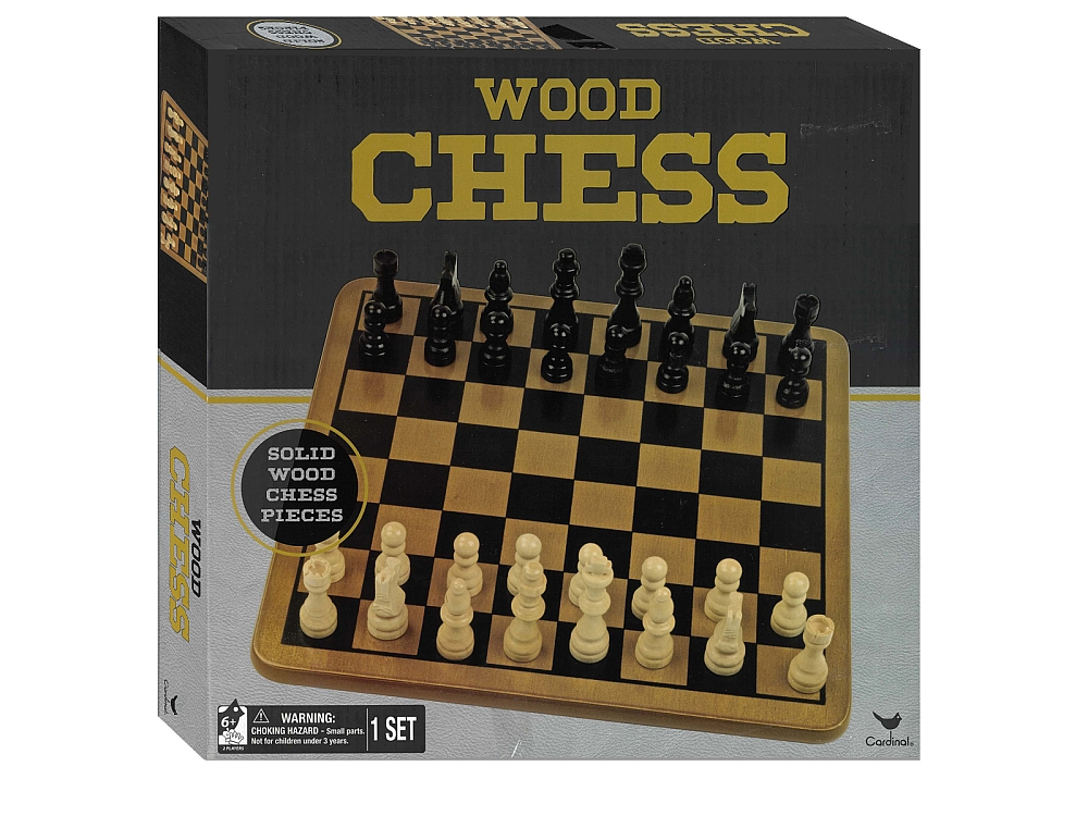CHESS SET WOOD 29CM Cardinal
