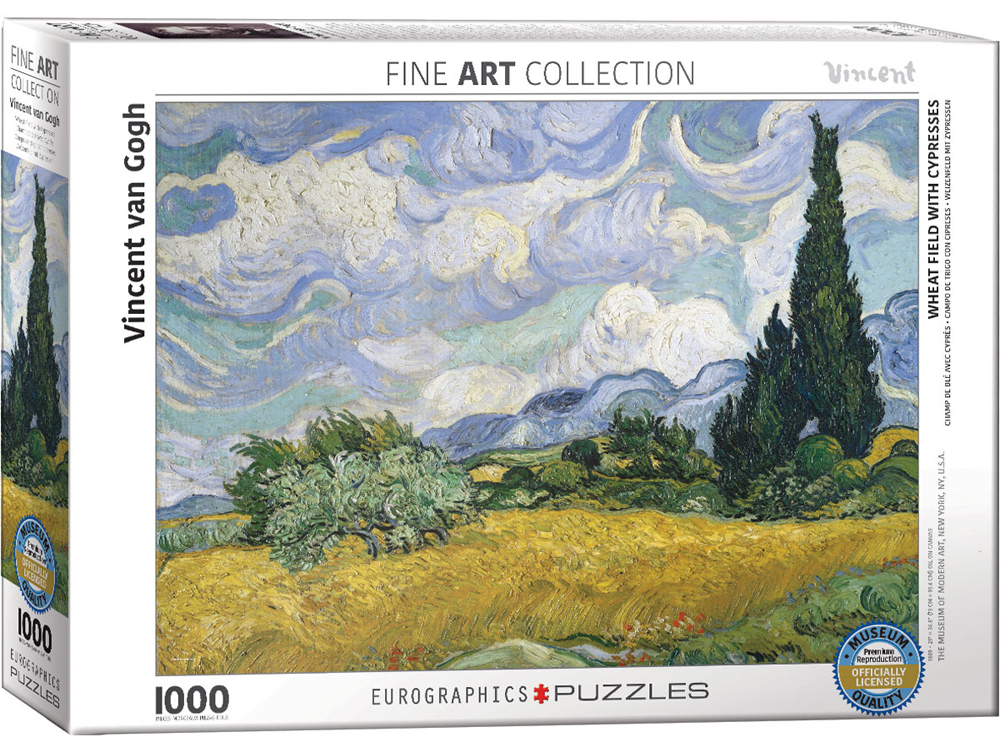 VAN GOGH, WHEAT FIELD 1000pc