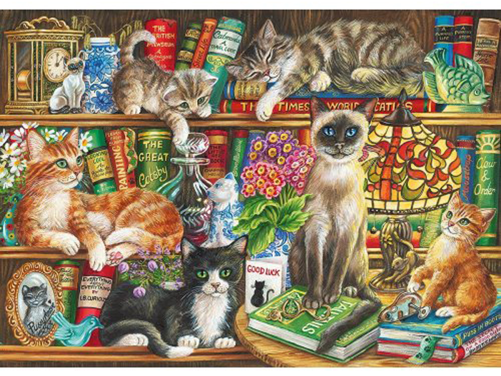 PUSS IN BOOKS 1000pc