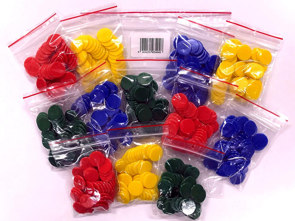 PLASTIC COUNTERS 16mm 12bags50