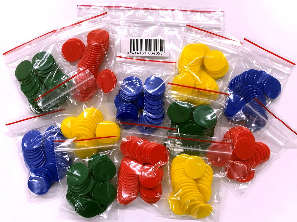 PLASTIC COUNTERS 22mm 12bags30