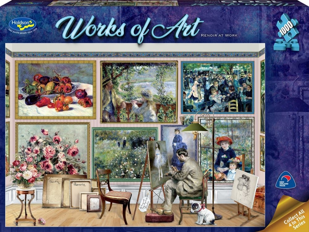 WORKS OF ART RENOIR AT WORK