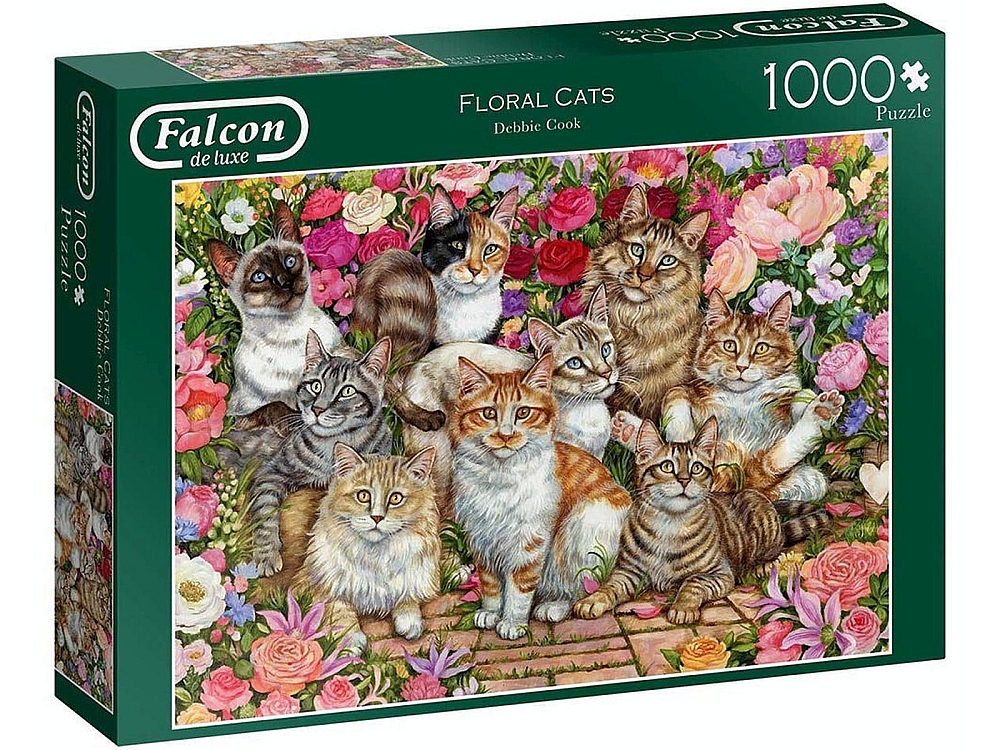 FLORAL CATS 1000pc