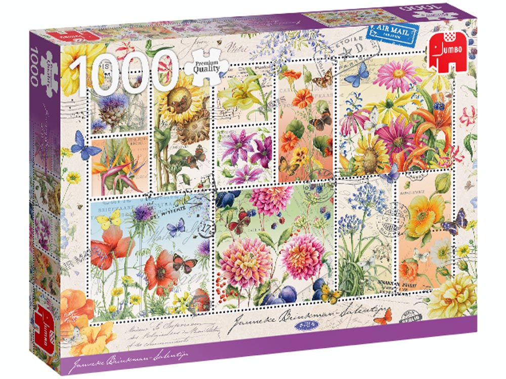 FLOWER STAMPS SUMMER 1000pc