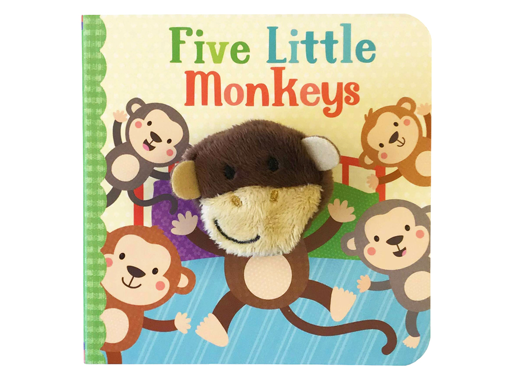 FIVE LITTLE MONKIES PUPPET BOOK