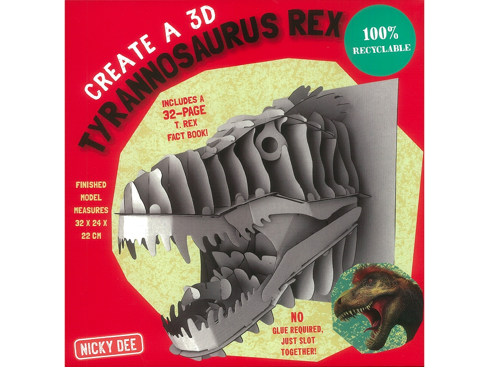 CREATE A T-REX - BOOK & MODEL