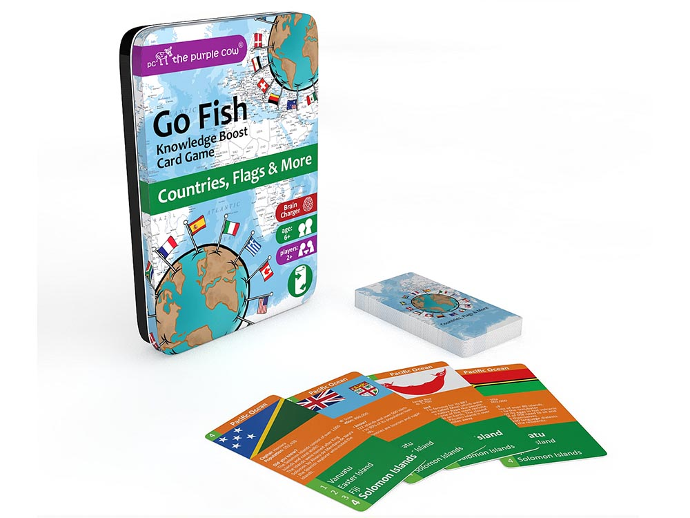 GO FISH, COUNTRIES,FLAGS Tin