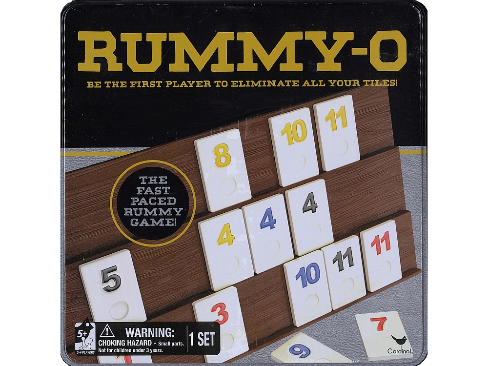 RUMMY-O TIN CASE Cardinal
