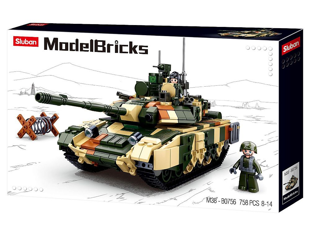 ARMY T90 BATTLE TANK 758PCS