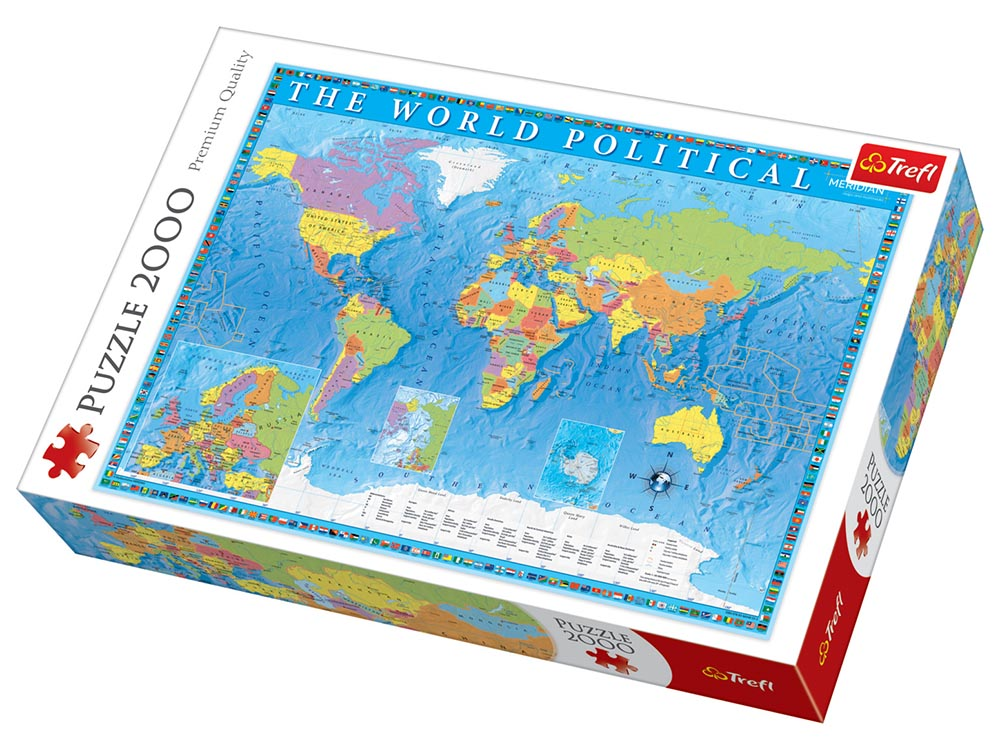 WORLD MAP, POLITCAL 2000pc