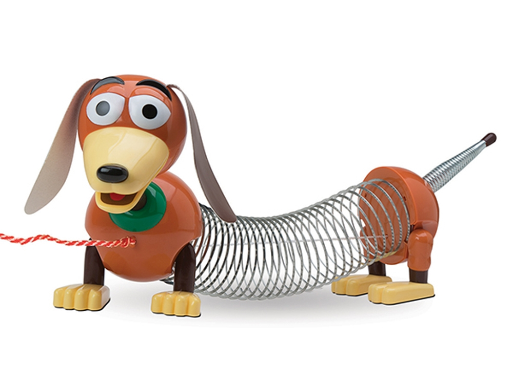 TS4 WIND UP SLINKY DOG big box