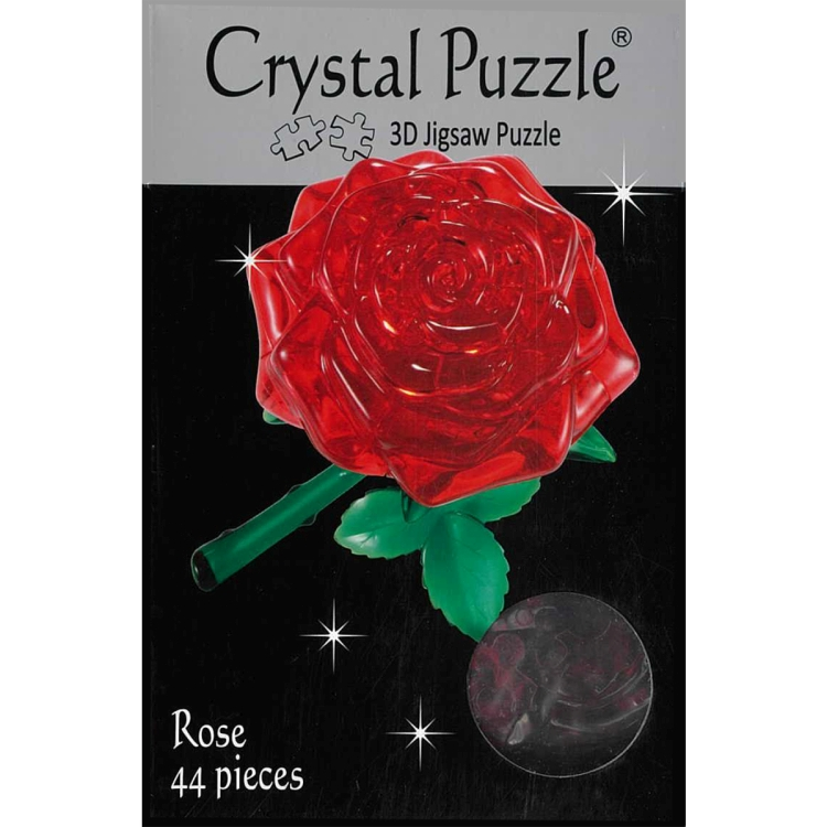 3D RED ROSE CRYSTAL PUZZLE