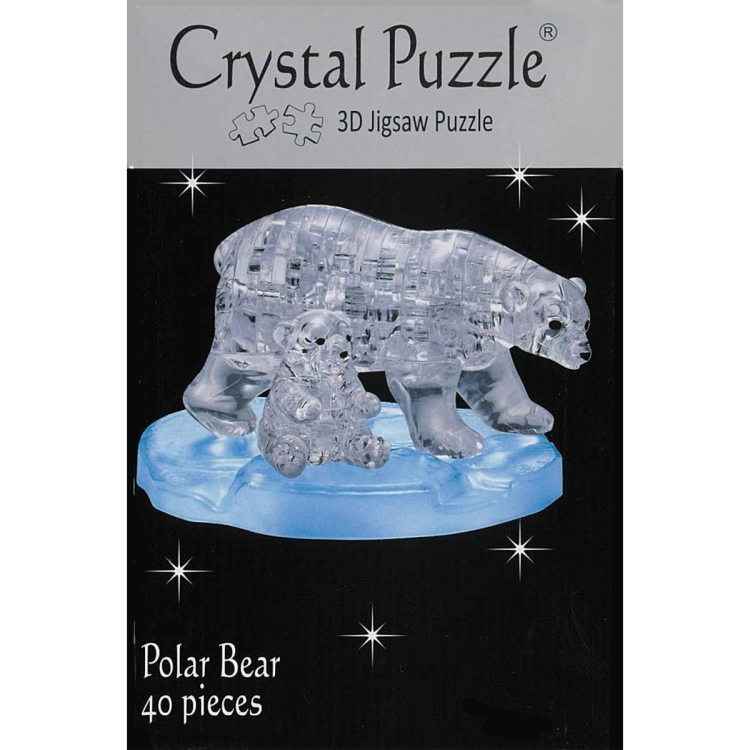 3D POLAR BEARS CRYSTAL PUZZLE