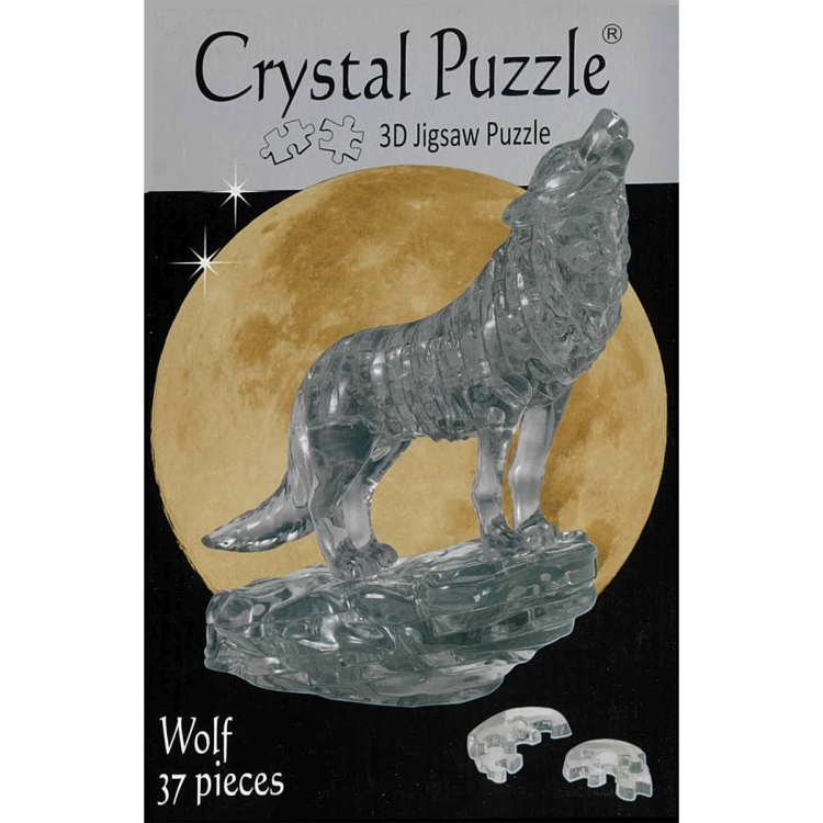 3D BLACK WOLF CRYSTAL PUZZLE