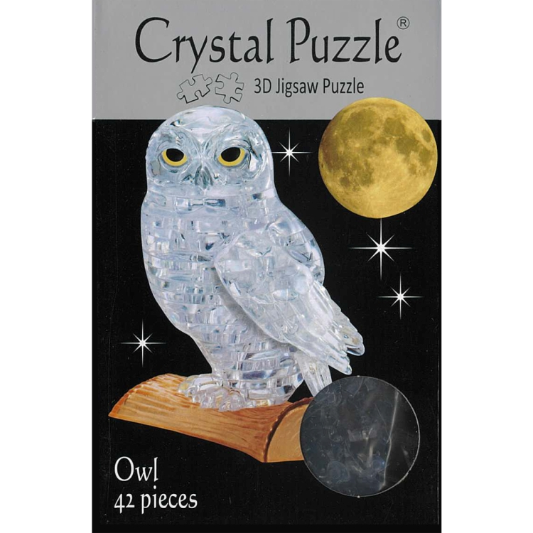 3D OWL CRYSTAL PUZZLE