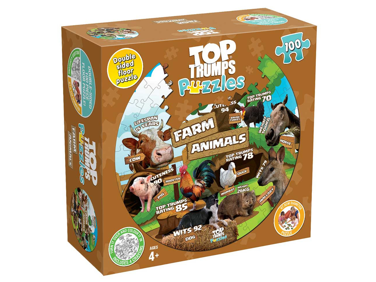 TT PUZZLES FARM ANIMALS 100pc