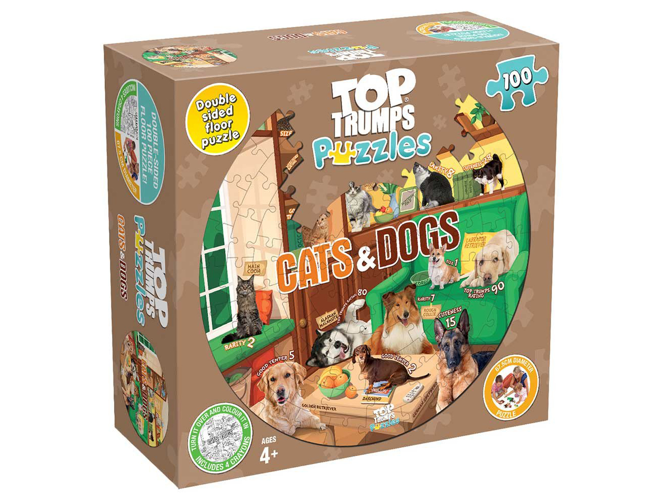 TT PUZZLES CATS & DOGS 100pc