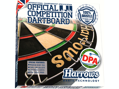 HARROWS OFFICL.COMP.DARTBOARD