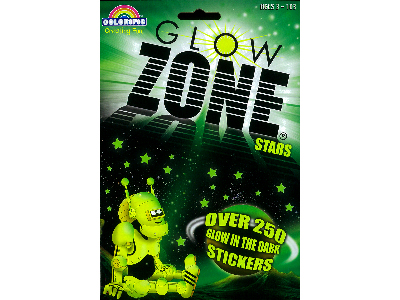 GLOW ZONE STARS 250 STICKERS