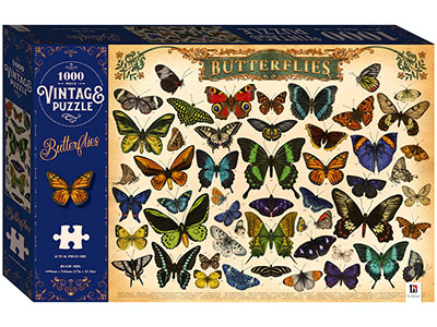 BUTTERFLIES VINTAGE PUZ 1000pc