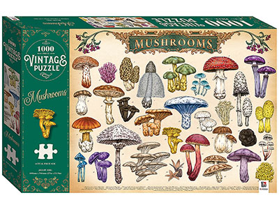VINTAGE PUZZLE MUSHROOMS 1000