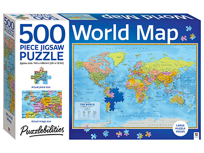 PUZZLEBILITIES WORLD MAP 500pc