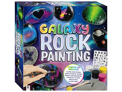 GALAXY ROCK PAINTING