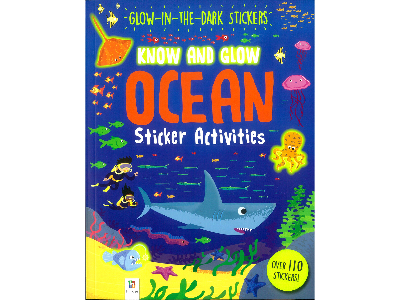 KNOW AND GLOW OCEAN STICKER BK