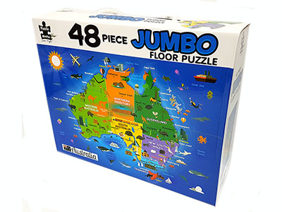 AUSTRALIAN MAP JUMBO FLOOR PUZ