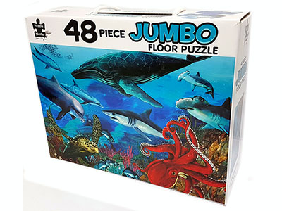UNDERWATER WORLD FLOOR PUZ 48p