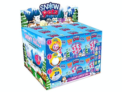 SNOW PETS x 18 PIECE DISPLAY