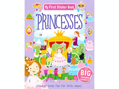 PRINCESSES MY FIRST STICKER BK
