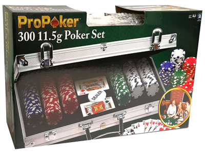PRO POKER 300pc 11.5gm SET