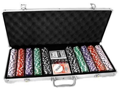 POKER 500pc 11.5gm ALUMIN.CASE