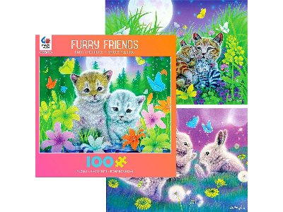 FURRY FRIENDS 100pc asstd.