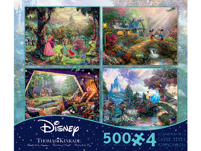 KINKADE DISNEY 500pc 4-in-1 S4