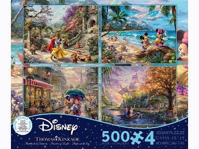 KINKADE DISNEY 500pc 4-in-1 S6