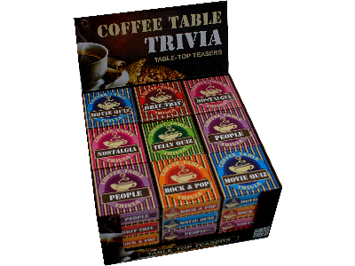 COFFEE TABLE TRIVIA x 36