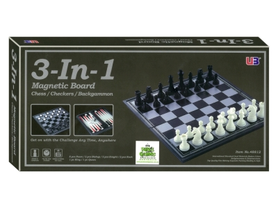 CHESS/CHECKERS 3-in-1 MAGN.12""