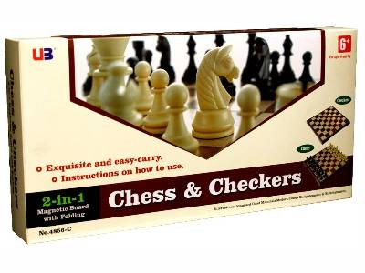 "CHESS & CHECKERS 12"" MAGNETIC"