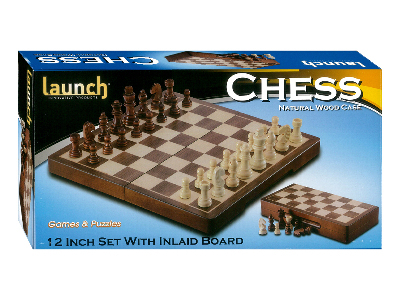 "CHESS SET 12"" INLAID (launch)"