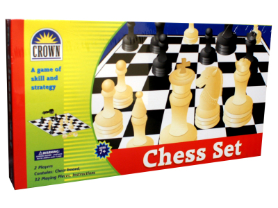 CHESS SET, (Crown)