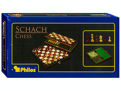 "CHESS FOLDING WOOD 11""(Philos)"