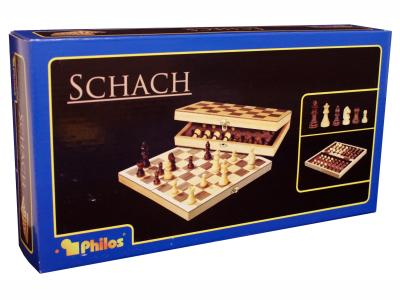 CHESS SET WOOD 30CM PHILOS