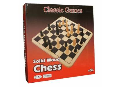 CHESS SOLID WOOD 28CM(Shuffle)
