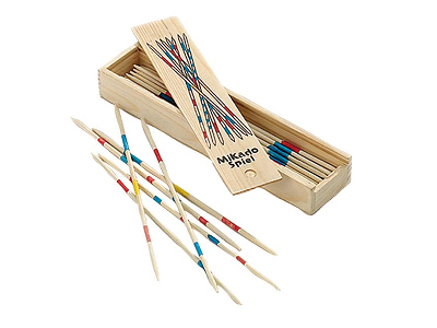 PICK UP STICKS LIGHT WOOD BOX
