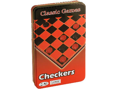 CHECKERS IN TIN CLASSIC GAMES