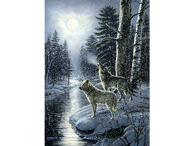 WOLVES BY MOONLIGHT 1000pc