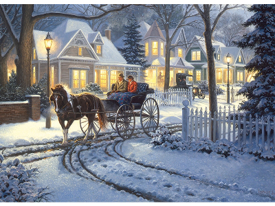 HORSE-DRAWN BUGGY 1000pc