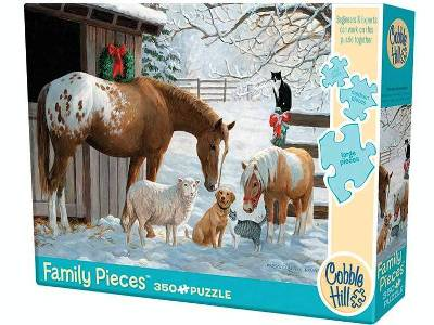 WINTER BARNYARD 350pc *Family*